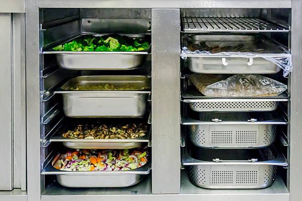 entretien armoire froide vitrine cellule de refroidissement arrière bar tour réfrigéré cuisine restaurant